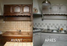 peindre des meubles de cuisine en chne - Comment Restaurer Un Meuble En Chene