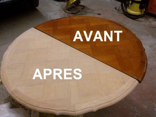 R nover une table en bois relooker meubles - Peindre un meuble en teck ...