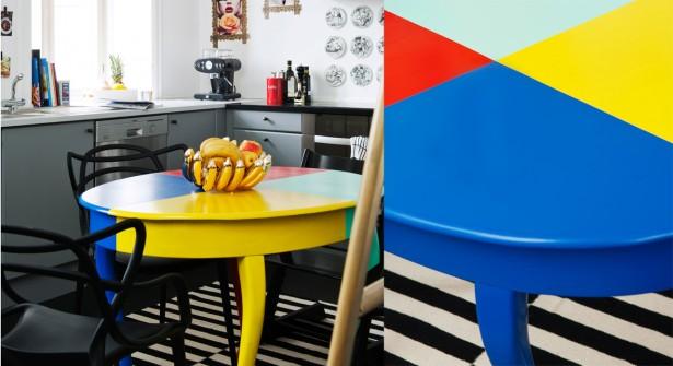 R nover une table en bois relooker meubles - Renover une table en bois en moderne ...