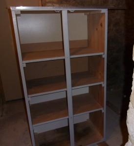 Baguette de finition partie haute de l'armoire