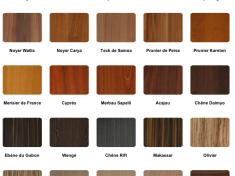couleurs bois