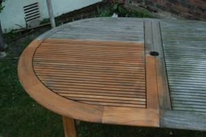 dégats provoqués par les intempéries sur mobilier de jardin