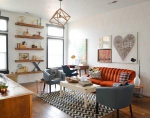 idée-mobilier-vintage-2015-salon-tapis-chevron