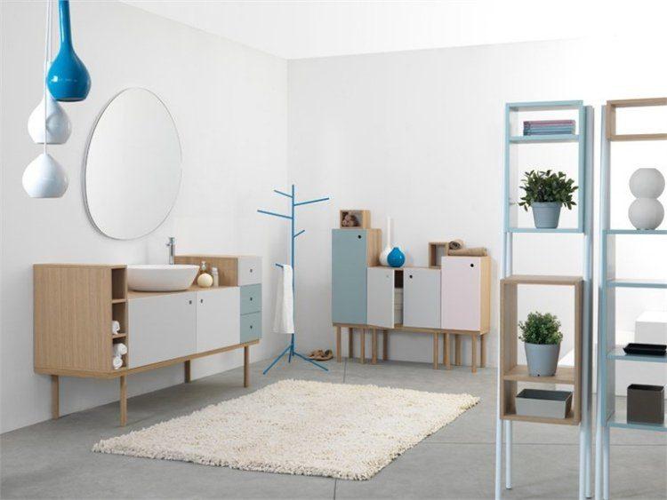 meuble-salle-bain-style-vintage-couleurs-pastel-bois-clair ...