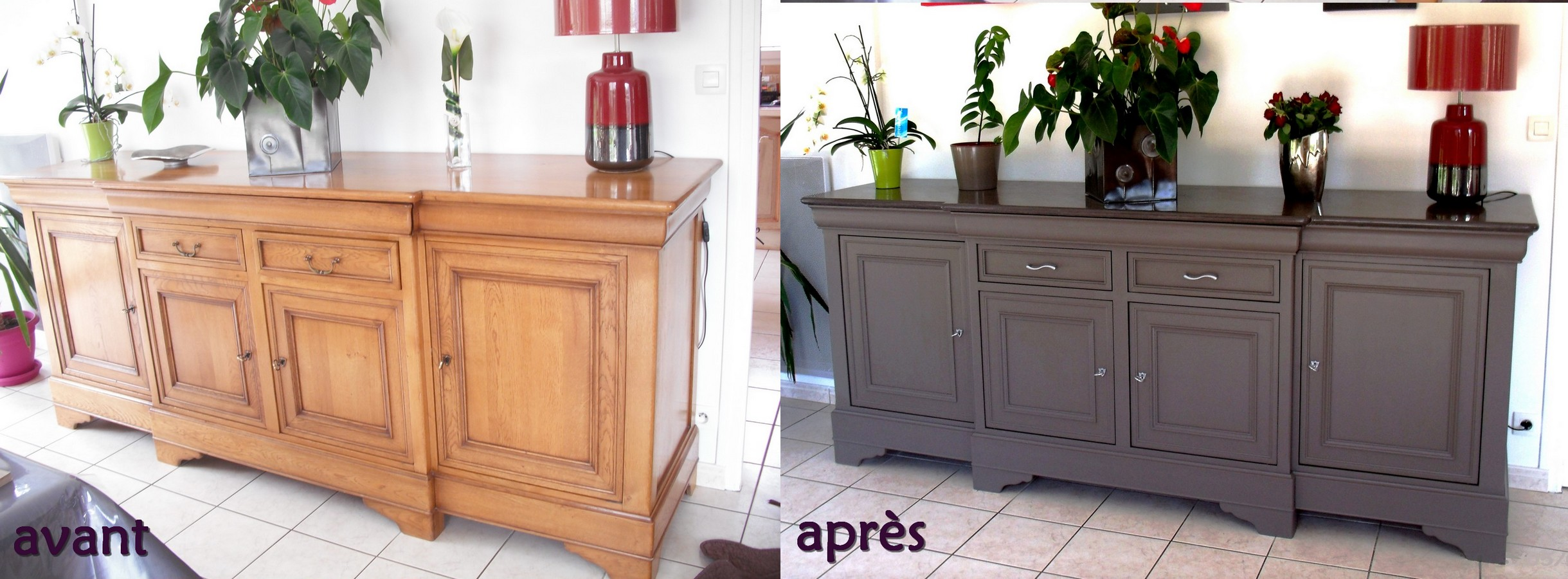 Photos avant apr s relooker un meuble - Relooking buffet ancien ...
