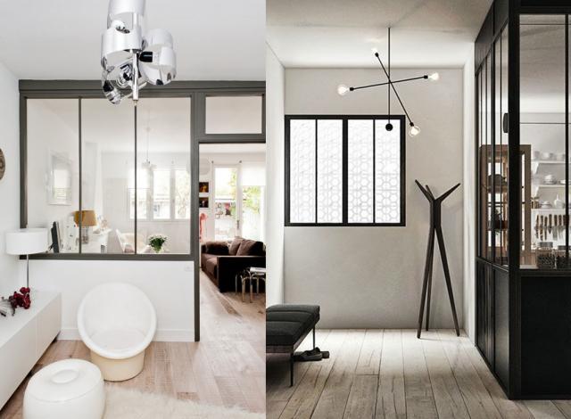 Verri re int rieure en bois ou acier relooker meubles for Cloison vitree type atelier