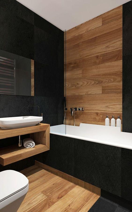▷ Salle de bains esprit bois   Relooker meubles