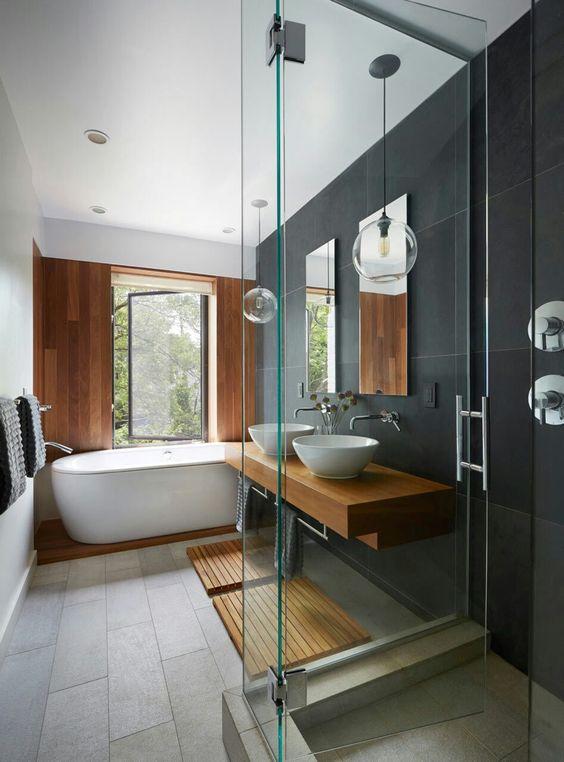 ▷ Salle de bains esprit bois | Relooker meubles