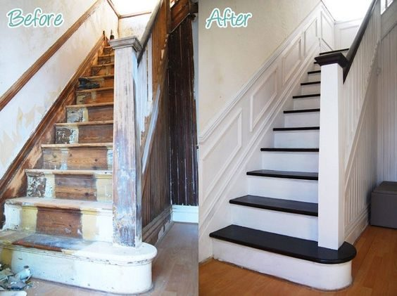 comment peindre un escalier en bois relooker meubles. Black Bedroom Furniture Sets. Home Design Ideas