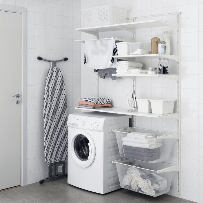 Am nager une buanderie relooker meubles - Meuble buanderie ikea ...