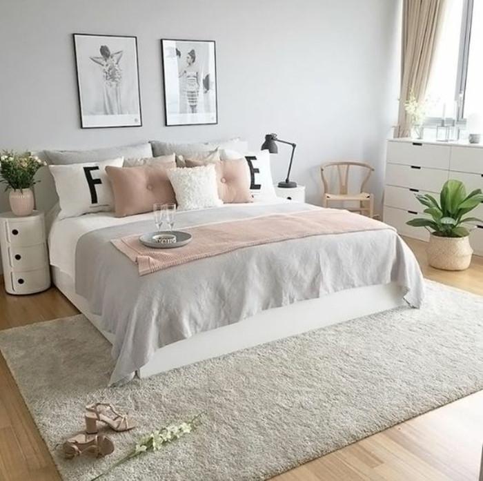 Deco chambre rose poudr frais awesome chambre grise et - Chambre grise et rose poudre ...