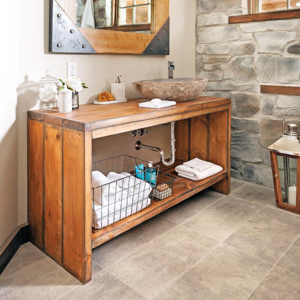 meuble vasque en bois  u00e0 faire soi