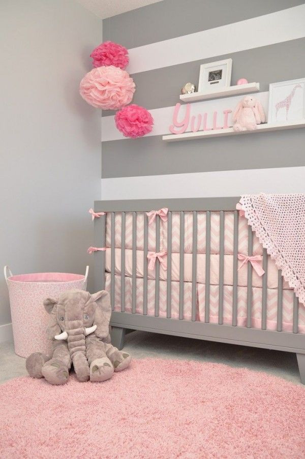 Une chambre en gris et rose de 0 77 ans relooker meubles - Chambre bebe grise et blanche ...