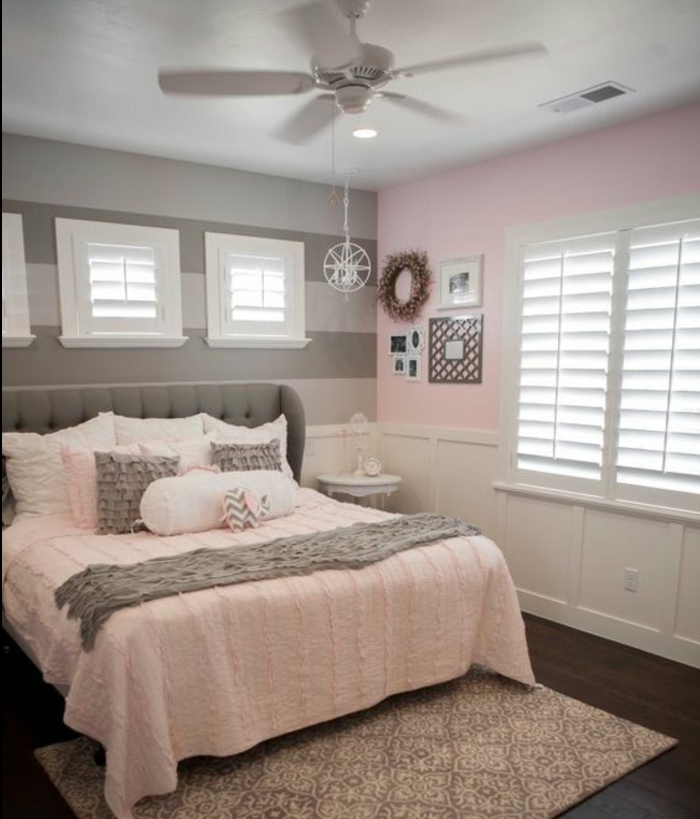 ▷ Une chambre en gris et rose de 0 à 77 ans   Relooker Meubles